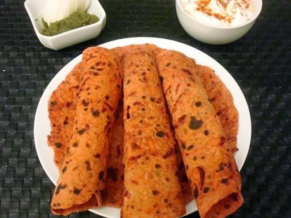 Dinner Ideas: Beetroot, Raddish and Carrot Paratha Recipe