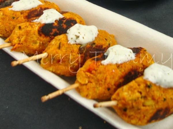 Vegetarian Recipe: Lentils or Dal Seekh Kebabs Recipe