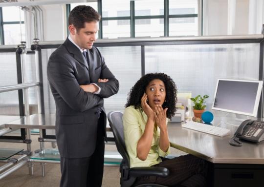 Women's Fear: Caught by Boss Sans Makeup