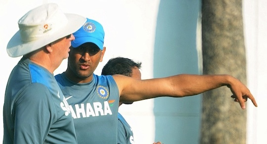 MS Dhoni captain Indian cricket team during a practise session at Vidarbha Cricket Association Stadium