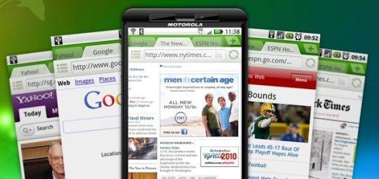 browsing on smartphone