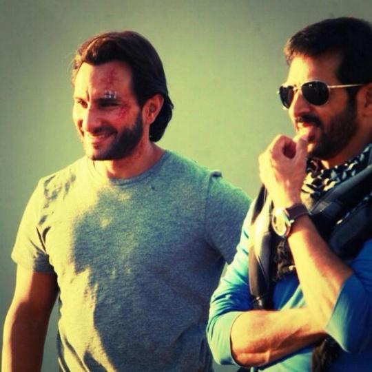 Kabir Khan and Saif Ali Khan