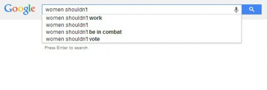 Google Search Reveals Gender Inequality