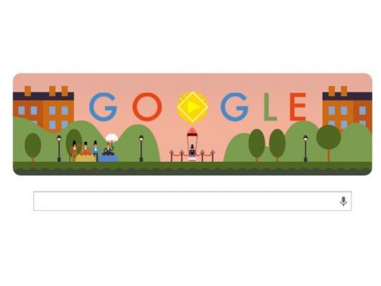 Google Doodle Parachute