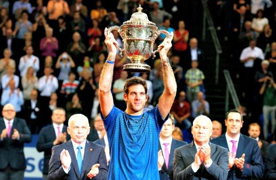 Del Potro Beats Federer in Basel Final