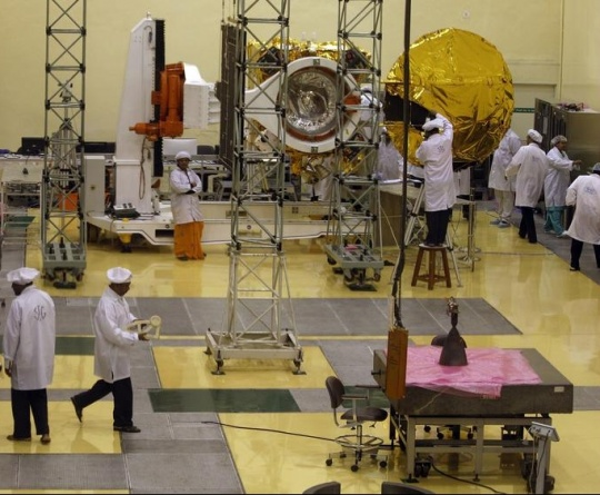 India's Mars Satellite Mated With Rocket