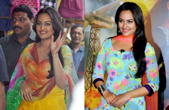 Sonakshi Sinha in Bullett Raja and R Rajkumar