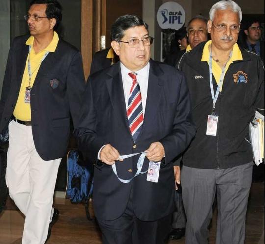 BCCI president Srinivasan