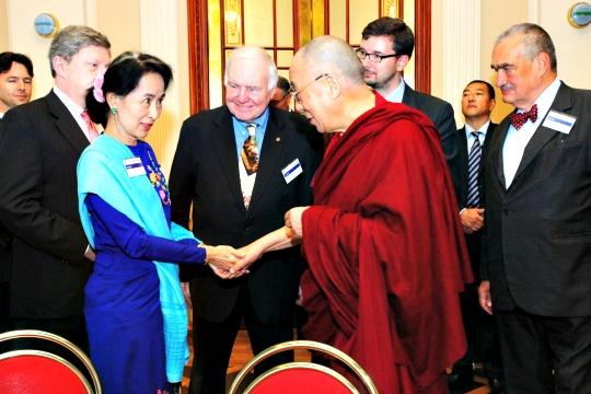 Suu Kyi, Dalai Lama