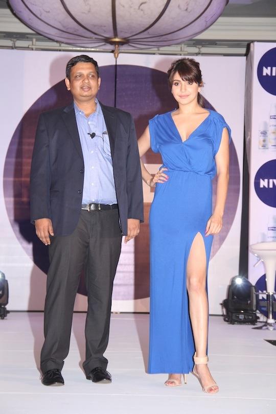 Anushka Sharma and Rakshit Hargave, Managing Director, NIVEA India Managing Director