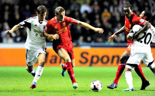 Liverpool Held to 2-2 Draw at Swansea