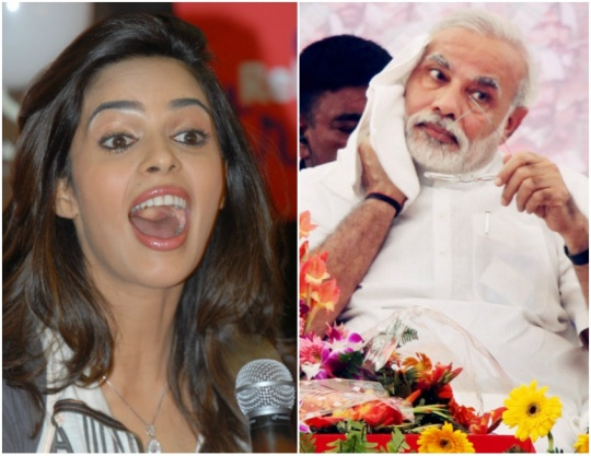 Mallika Sherawat and Narendra Modi