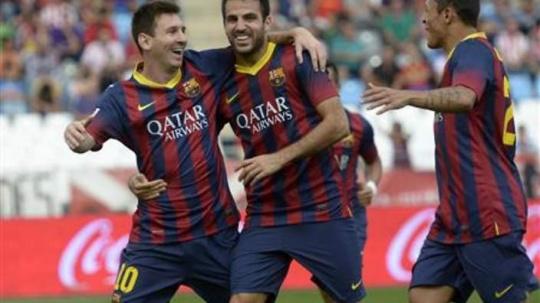 Messi Helps Barca Set Club Record