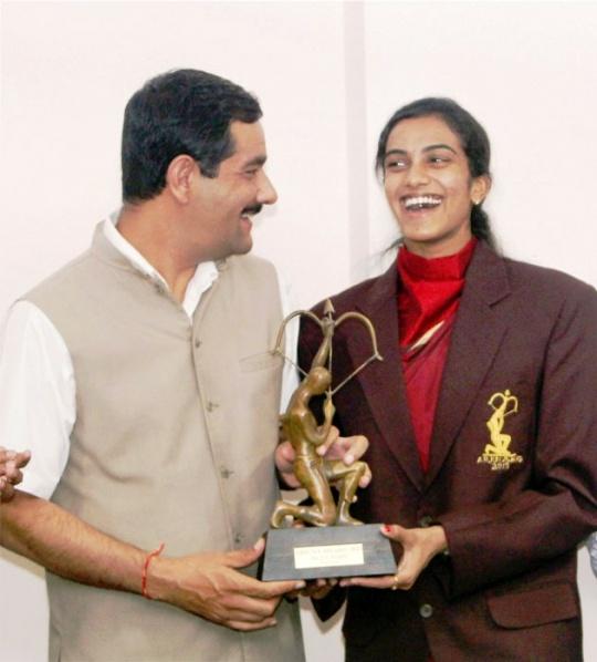 P V Sindhu Receives Arjuna Award