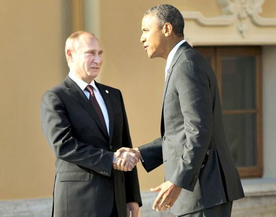 Russian President Vladimir Putin, President Barack Obama