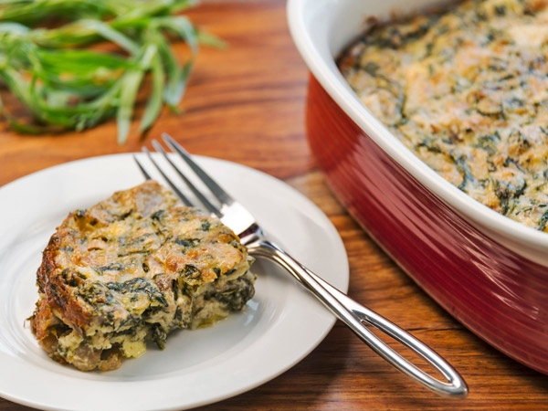 Iron Rich Recipe: Baked Spinach With Corn