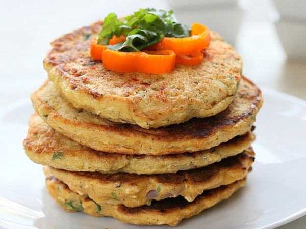 Healthy Starter Recipe: Mini Soya Paneer Pancakes