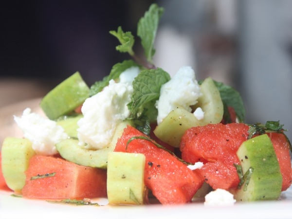 Summer Recipe: Cucumber, Watermelon And Feta Salad