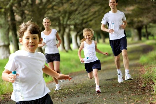 Jogging in the Park is Healthiest for Kids