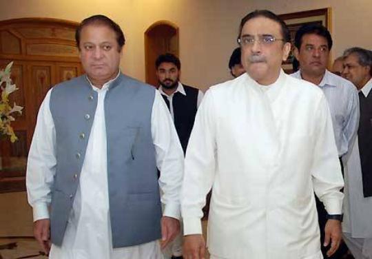 Pakistan Prime Minister Nawaz Sharif, Asif Ali Zardari