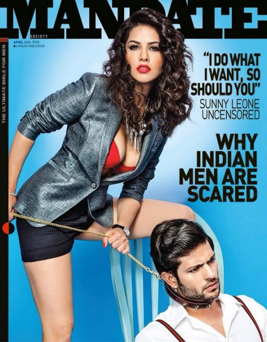 Sunny Leone in Mandate magazine