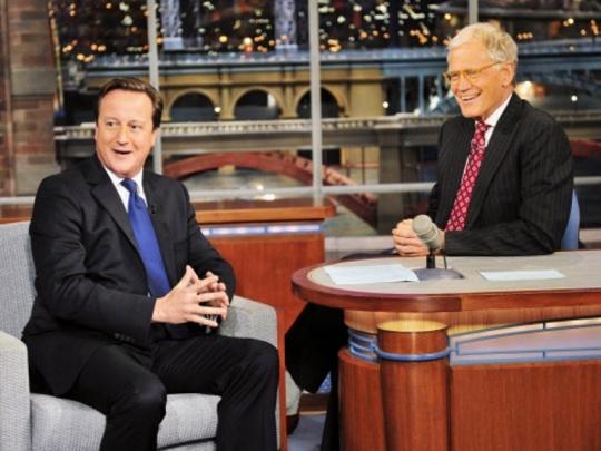 David Cameron, David Letterman