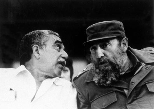 Garcia Marquez and Fidel Castro