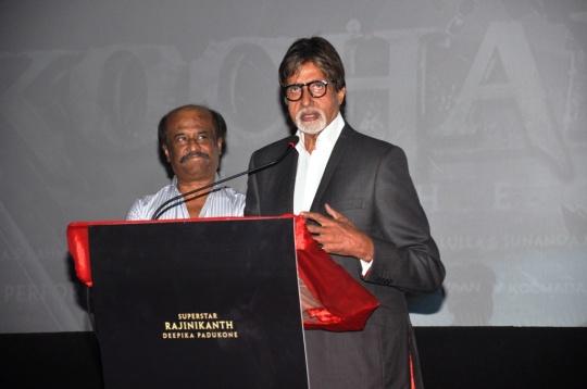 Rajinikanth's Kochadaiiyaan impresses Amitabh Bachchan!