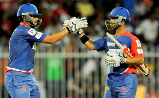 Ross Taylor and JP Duminy added 110 for the fifth wicket against the RCB.
