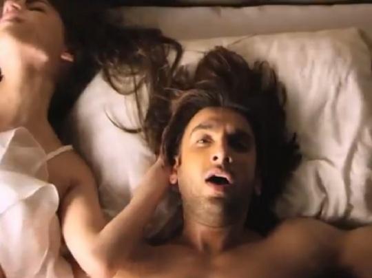 Ranveer Singh in the Durex ad