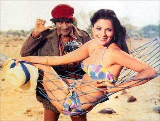 Zeenat Aman and Dev Anand in Heera Panna