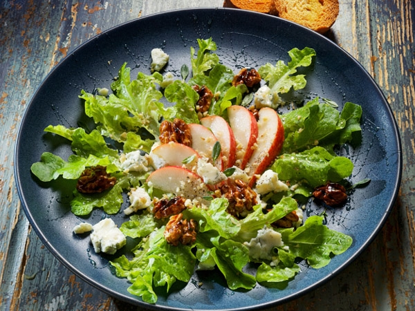 Healthy Salad Recipe: Quinoa, Peach And Walnut Salad