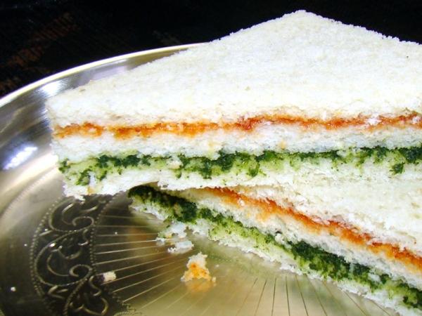 Healthy Snack: Tricolour Sandwich Recipe