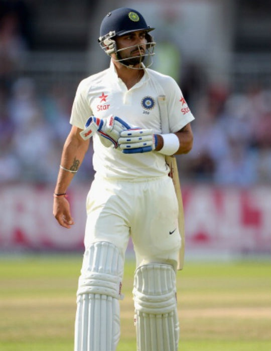 Virat Kohli scored 0 and 7 in the Old Trafford Test