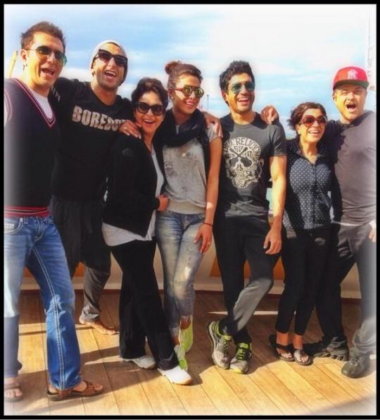 Ritesh Sidhwani, Ranveer Singh, Shefali Shah, Priyanka Chopra, Farhan Akhtar, Zoya Akhtar and Anil Kapoor
