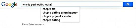 Parineeti Chopra  search suggestions