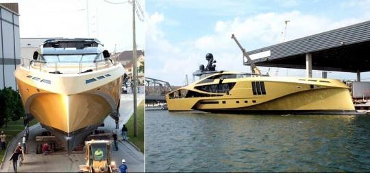 Futuristic SuperSport Yacht