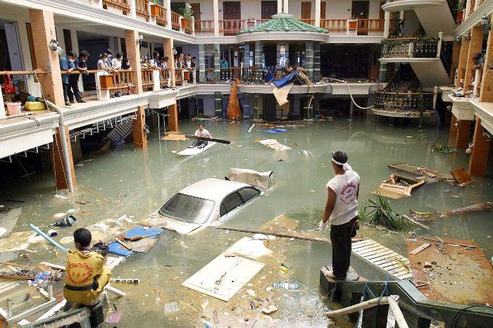Hotel destroyed Phuket