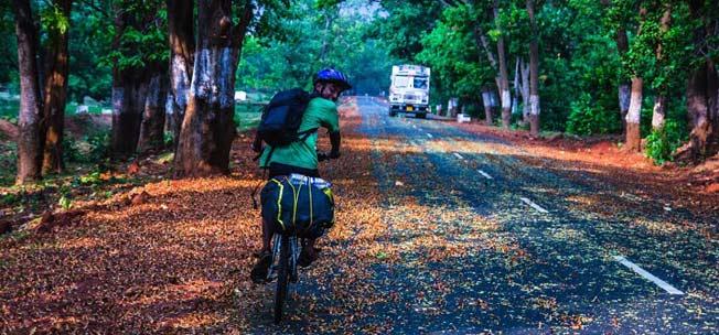 indian guy on bicycle