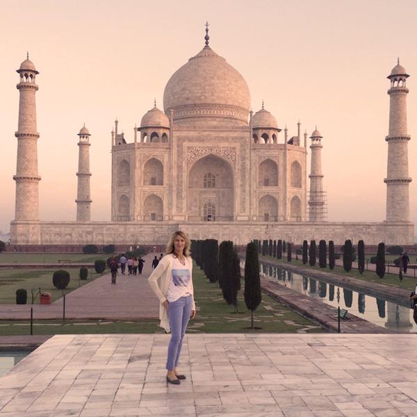 Steffi Graf at the Taj Mahal