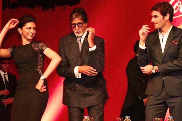 Federer, Deepika and Amitabh Bachchan
