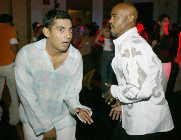 cricketers dancing india