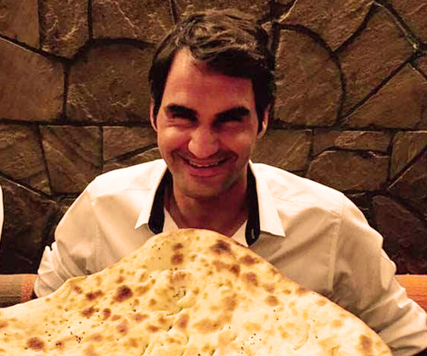 Roger loves his naan