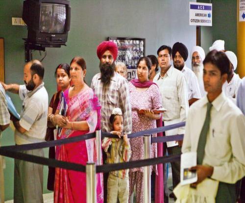 Immigration queue