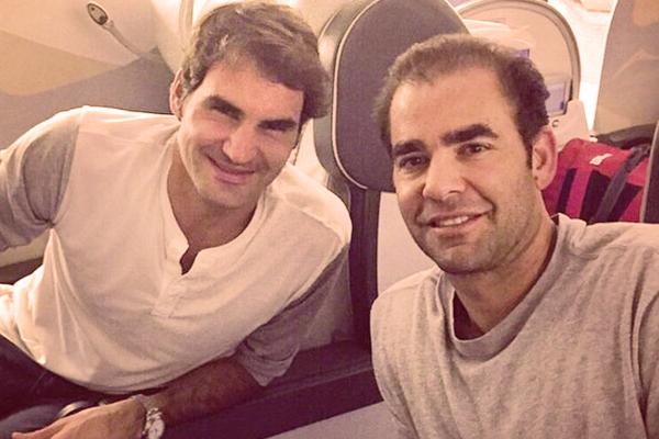 Roger Federer with Pete Sampras