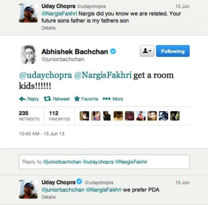 Uday baba doing naughty on Twitter