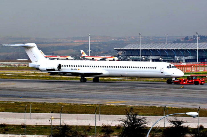 Accident aircraft in January 2013