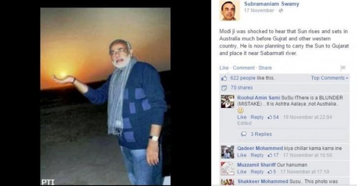 Modi pulling a bollywood