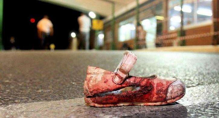 blood soaked shoe israel
