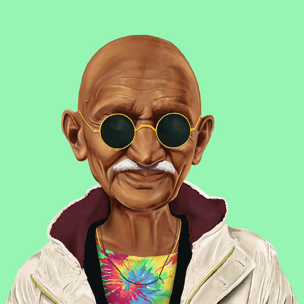 Gandhi hipster
